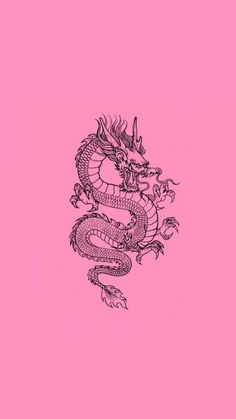 Dragon Wallpaper Iphone, Trippy Wallpaper, Iphone Background Wallpaper, Wallpaper Art, Pink Retro Wallpaper, Cute Patterns Wallpaper, Iphone Wallpaper Tumblr Aesthetic, Aesthetic Wallpapers, Pink Dragon