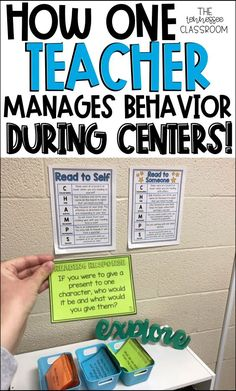 Manage student behavior during centers with these 5 easy tips! Great literacy ce… Manage student behavior during centers with these 5 easy tips! Great literacy ce…,Home away from home! Manage student behavior during centers. Classroom Management Tips, Classroom Procedures, Classroom Organization, Small Group Organization, Behavior Management Chart, Behavior Charts, Student Behavior, Classroom Behavior, Behavior Plans