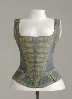 1740s Woman's riding waistcoat at the Germanisches Nationalmuseum, Nürnberg…
