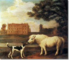 George Stubbs - Pony and Hound in Front of Brocklesby Park