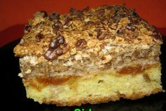 Cake with nuts cream Romanian Desserts, Romanian Food, Cake Factory, Eat Dessert First, Cake Cookies, Food And Drink, Dessert Recipes, Cooking Recipes, Sweets