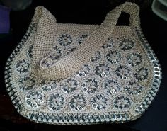 bag made from recycled soda tabs