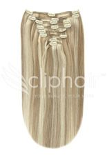 <p> One piece clip in hair extensions allow you to add longer, fuller hair in just a couple of minutes. Add to short hair for instant length, or add volume and thickness to longer hair. These real human hair extensions blend with your natural hair and can be styled or curled to suit your look. Available in a selection of colours and lengths.</p>