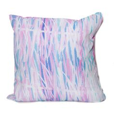 Blue and Pink Bamboo Throw Pillow designed by elise flashman ($46) ❤ liked on Polyvore featuring home, bed & bath, bedding, pillows, pink blue bedding, pink bedding, bamboo bedding y blue bedding