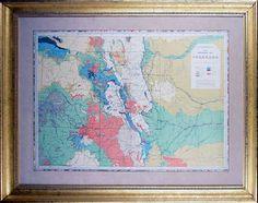 Framed Map of Colorado