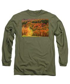 Autumn Foliage New England Long Sleeve T-Shirt featuring the photograph Sun Peeking Through by Jeff Folger