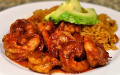 Shrimp Diablo made easy with Claude's Hot & Spicy Sauce! Sooo delicious!!