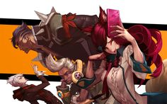 League of Legends; Ahri, Ekko, Darius, and Vladimir Artist; Choi Hyochan