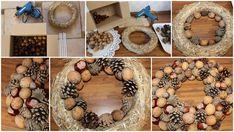 Podzimní dekorování u nás doma — VERU HARNOL Fall Decor, Holiday Decor, Burlap Wreath, Dyi, Christmas Wreaths, Autumn, Flowers, Home Decor, House Ideas