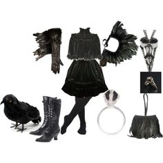 23 best sara crow costume images on pinterest raven costume lolita costumes 3 the raven by theeverydaygoth on polyvore halloween ravenelsa halloweendiy solutioingenieria Image collections