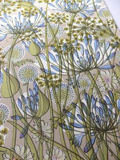 Angie Lewin - The Walled Garden - screen print (detail)