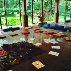 """""""{photographed} The Yoga Barn in Ubud, Bali was *big* inspiration for Brilliant Imports Meditation Cushions...get yours here:…"""" #mindfulness #meditation"""
