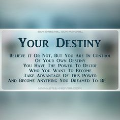 """An awesome Virtual Reality pic! Just a Few Motivational Thoughts from us to inspire and brighten up your day. - """"Your Destiny."""" #motivate #motivational #inspire #inspirational #positivevibes #positive #ARATheMovie  ARA is a Multi-Reality Dystopian Sci-Fi Drama Feature currently in PostProduction seeking finishing funds and VR/AR Companies and VFX Post Production House/Studio to partner with.  To find more information about the film on our social networks (Facebook Twitter YouTube…"""