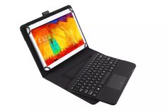 Detachable Wireless Bluetooth Keyboard With Touchpad+PU Leather Case Cover Stand For LG G Pad 10.1 V700