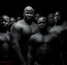 Absolutely fantastic photographic series of Senegalese wrestlers photographed by award winning photographer Denis Rouvre. Senegalese wrestling, or laamb is a mixture of bare-fist boxing and conventional wrestling. The fighters are coated with potions to extract evil and wear tallismans in the hope for good luck. Traditionally, laamb was a sign of a young man's talent and strength in order to attract a wife.