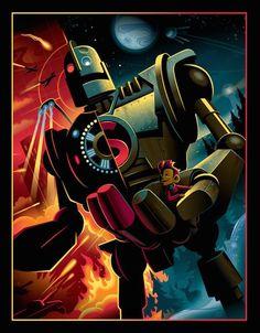 Beste Comics, Brad Bird, The Iron Giant, Fanart, Steampunk, Kid Movies, Children Movies, Alternative Movie Posters, Cultura Pop