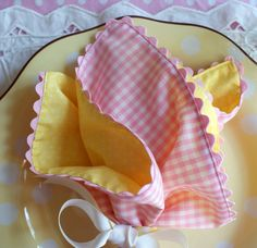 Paula Deen's Dot Crazy plates worked perfectly with our pink and yellow palette, and pink and yellow napkins tied with yellow polka dotted ribbons coordinated perfectly.