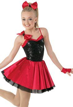 Weissman™ | Sequin & Satin Dress with Shoulder Bow