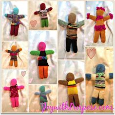 Crocheted Dolls:  Perfect Way to Use Up All Your Scraps