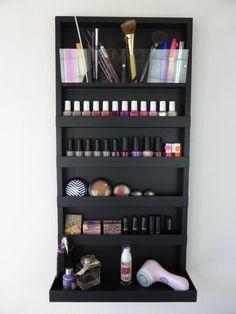 Μake up organizer nail polish rack in black by CraftersCalendar