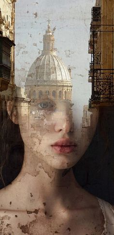 ANTONIO MORA (aka mylovt) ~ a Spanish artist who combines with talent portraits photographed in various landscapes.