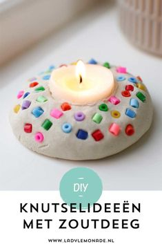 Making salt dough - Lots of great ideas and examples to make! - Making salt dough – Lots of great ideas and examples to make! of bread dough. Like this tea light - Clay Crafts For Kids, Diy For Kids, Diy And Crafts, Arts And Crafts, Easy Diy Projects, Art Projects, I Am Awesome, Christmas Crafts, Make It Yourself