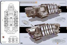 Medium Cargo Ship Concept Art