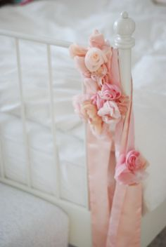 Tulle rosettes ribbon sashes/belts
