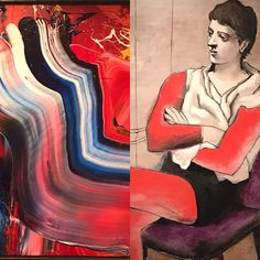 An unusual Saltimbanque by Picasso in dialogue with a Kazuo Shiraga. The Bridgestone / Ishibashi collection is full of hidden conversations between all its pieces. @museeorangerie until August 21.