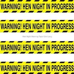Bride Boutique Hen Night In Progress Warning Tape Banner - Hen Party Accessories / Decoration: Amazon.co.uk: Toys & Games