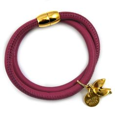 Fortune cookie armband bordeaux from Applepiepieces