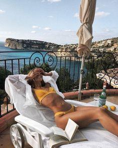 New Fashion Photography Poses Bikini Ideas Summer Vibes, Summer Beach, Trendy Swimwear, Luxury Swimwear, Women's Swimwear, Summer Aesthetic, Foto Pose, The Bikini, Yellow Bikini