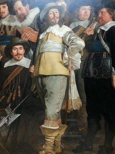 Detail of: Militia Company of District VIII under the command of Captain Roelof Bicker - Bartolomeus van der Helst, oil on canvas 1643. This civic guard painting is a substantial 7.5m wide. Rijksmuseum Amsterdam.