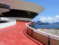 oscar niemeyer´s contemporary art museum - niteroi, rio de janeiro, brazil