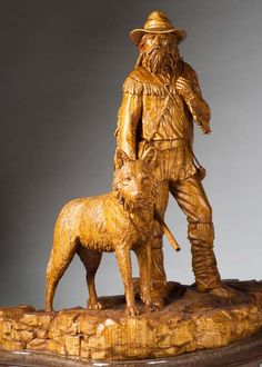 """""""silent companion"""" carved by Gerald Copeland"""