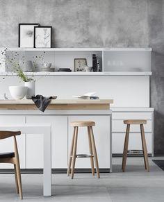 bulthaup b1 Copenhagen Wegner Barstools here: https://www.paletteandparlor.com/products/hans-wegner-bar-stool-ch56-ch58