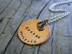 Hand Stamped Copper Necklace Mother's by KottageKreations on Etsy, $27.00
