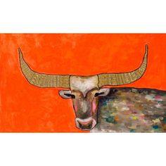 "GreenBox Art ""Golden Bull"" by Eli Halpin Graphic Art on Wrapped Canvas & Reviews | AllModern"