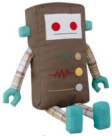 "Kauzbots - a portion of the proceeds from each different color ""bot"" goes to a corresponding ""kauz."" Definitely getting one of these for Rowan's robot party. Softies, Sewing Projects, Craft Projects, Fabric Toys, Toy Craft, Sewing Toys, Animal Pillows, Sewing For Kids, Crafts For Kids"