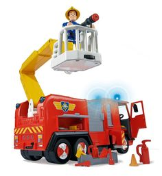 #Camion de #pompier électronique sons lumières, avance en roues libres, disposent de fonctions amusantes #caserne # #incendie