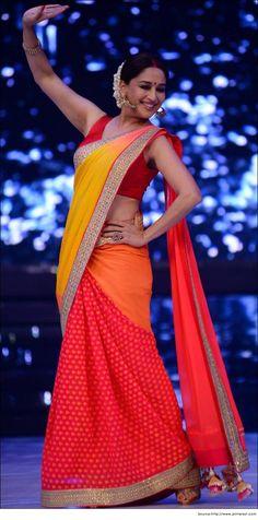 Bollywood Actress Madhuri Dixit in Saree | Designer Sarees