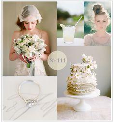 Mood Board #111: Grayed Summer #gray #wedding #white #green