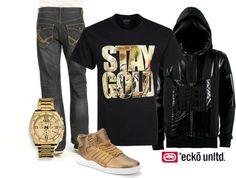 All Gold Everything by shopecko, via Polyvore #ecko #mens #style
