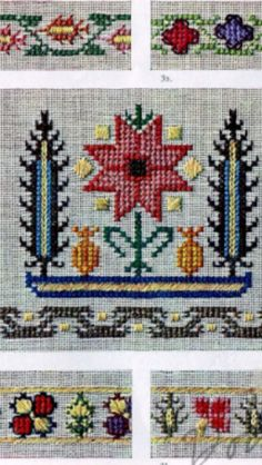 This Pin was discovered by Emi Hungarian Embroidery, Wool Embroidery, Cross Stitch Embroidery, Embroidery Patterns, Knitting Patterns, Cross Stitch Borders, Linen Napkins, Sewing Techniques, Fiber Art