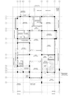 Residential Architecture The Courtyard House Interior Architecture Drawing, Architecture Panel, Concept Architecture, Residential Architecture, Duplex Floor Plans, Bungalow Floor Plans, House Floor Plans, House Layout Plans, Family House Plans