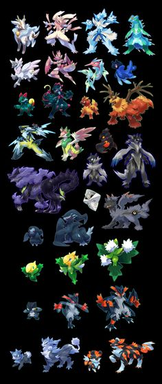 A whole bunch of pocket monsters by cat-meff on DeviantArt