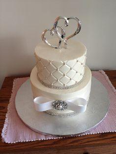 Homemade Anniversary Cakes | Small Wedding Cake - Cake Decorating Community - Cakes We Bake