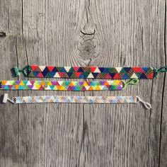 Handmade one bead at a time peyote stitch bracelet. Pick your color scheme and width! Each bracelet is made with nine complementary colors