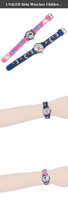 i.VALUX Kids Watches Children's Girls Boys 3D Cartoon Wristwatches with Silicone Rubber Band, 2-Pack. Features: 1. Lovely and fashionable watches. 2. Easy to read dial, would be a perfect kids' first time teacher. 3. Japanese quartz movement with analog display. 4. Fully adjustable silicone rubber band, stainless steel back. 5. Excellent gifts for your kids, boys, girls, grandsons, granddaughters etc. 6. Best choice for birthday, thanksgiving day, graduation ceremony, coming-of-age…