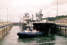 The LPG tanker Lycaste Peace in the Panama Canal's new Agua Clara locks on the first day of commercial operations, June 27, 2016. Photo: Panama Canal Authority